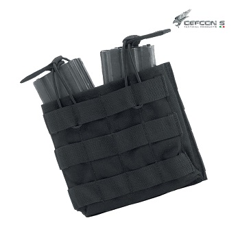 Defcon 5 ® Double AR Open Magazine Molle Pouch - Black