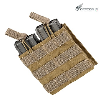 Defcon 5 ® Double AR Open Magazine Molle Pouch - Coyote Brown