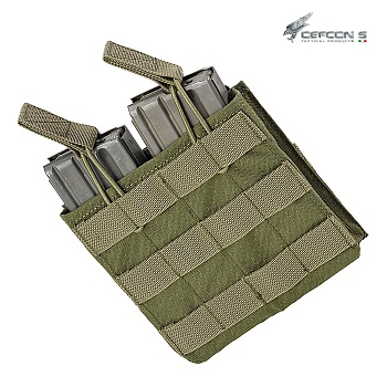 Defcon 5 ® Double AR Open Magazine Molle Pouch - Olive