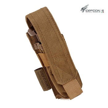 Defcon 5 ® Single Pistol Magazine Molle Pouch - Coyote Brown