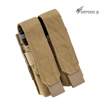 Defcon 5 ® Double Pistol Magazine Molle Pouch - Coyote Brown