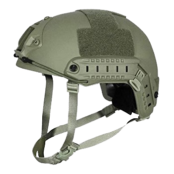 "Ballistischer Einsatzhelm FAST Level IIIA ""high cut"" - Olive"