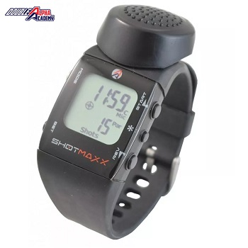 Double Alpha Academy ® SHOTMAXX-2 Shot Timer Watch - White Display