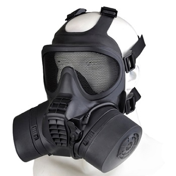 Element GSR Mask (Gitter & Glas) - Black
