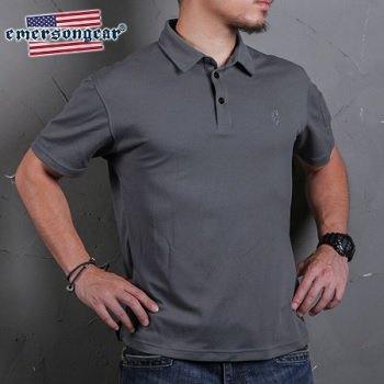 "Emerson Polo Shirt ""Wolf Grey"" - Gr. L"