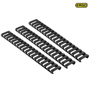 Ergo ® Ladder Rail Panel Cover (18 Slots) - Black (3er Pack)