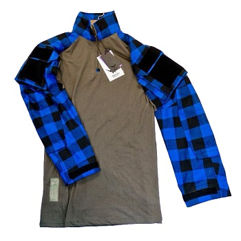 F.F.I. GEN3 TAC Lumberjacks Shirt, Blue - Gr. XL