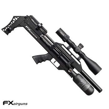 "FX Airguns ""the Maverick - Compact Edition Power Plenum - Black"" HPA Luftgewehr 4.5mm Diabolo - 27 Joule"