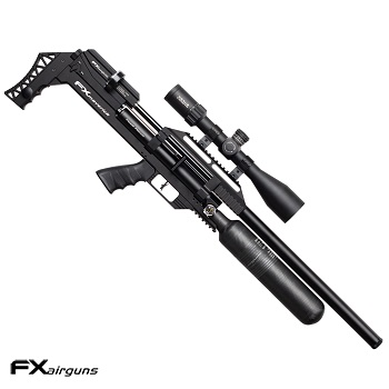 "FX Airguns ""the Maverick - Sniper Edition Power Plenum - Black"" HPA Luftgewehr 7.62mm Diabolo - 157 Joule"