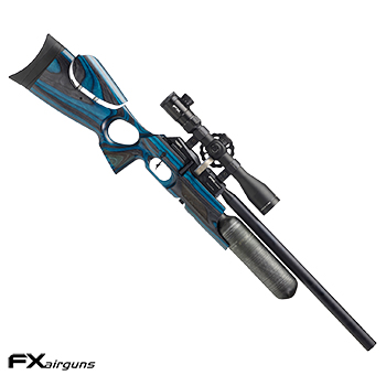"FX Airguns ""the Crown - Laminated Wood, Sapphire Blue"" HPA Luftgewehr 7.62mm Diabolo - 102 Joule"