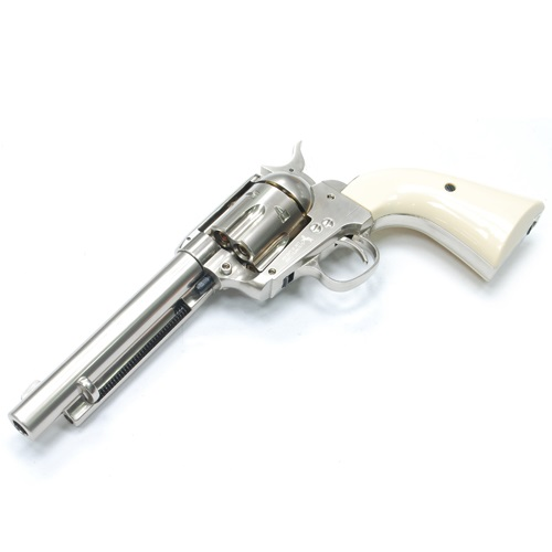 "GunHeaven Colt S.A.A. .45 ""Peace Maker"" Co² Revolver - Nickel/Pearl"
