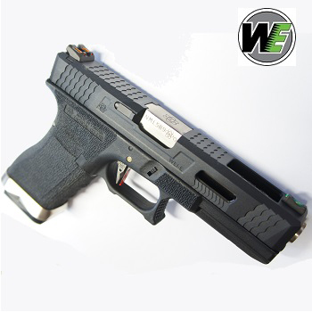 "WE G17 ""SAI Style"" (Black Slide, Silver Barrel) - Black"