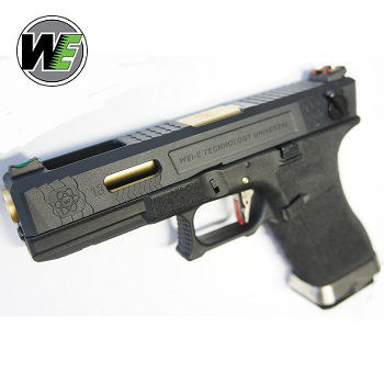 "WE G18C ""SAI Style"" (Black Slide, Golden Barrel) - Black"