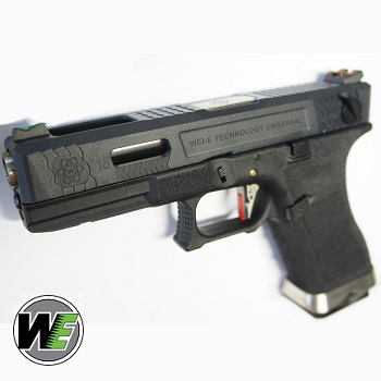 "WE G18C ""SAI Style"" (Black Slide, Silver Barrel) - Black"