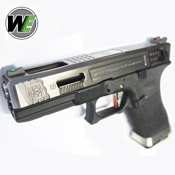 "WE G18C ""SAI Style"" (Silver Slide, Silver Barrel) - Black"