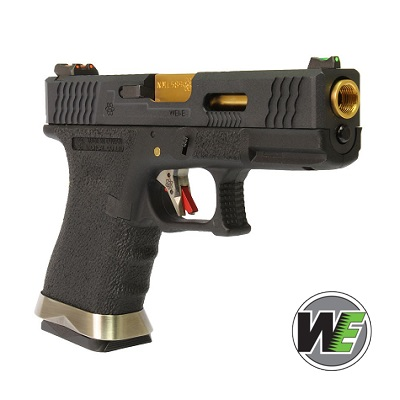 "WE P19 ""SAI Style"" (Black Slide, Gold Barrel) - Black"