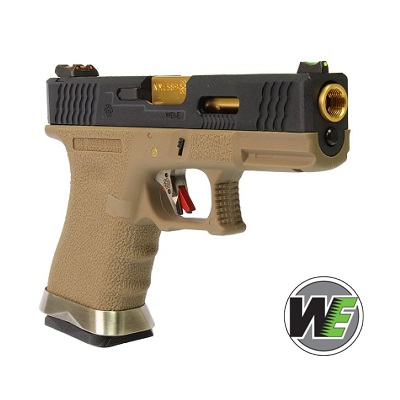 "WE P19 ""SAI Style"" (Black Slide, Gold Barrel) - FDE"