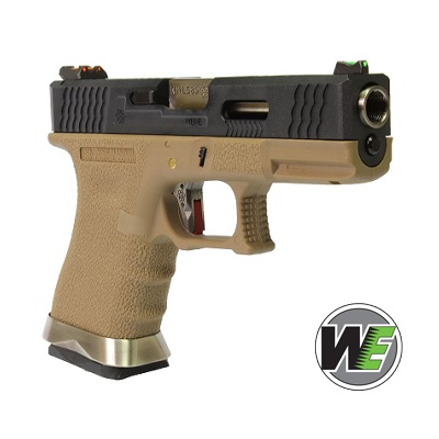 "WE P19 ""SAI Style"" (Black Slide, Silver Barrel) - FDE"