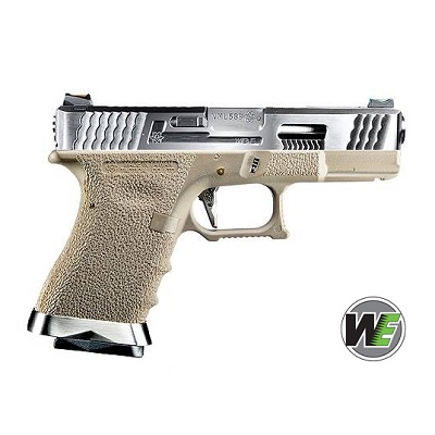 "WE P19 ""SAI Style"" (Silver Slide, Silver Barrel) - FDE"