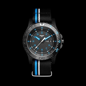 traser P66 Blue Infinity H3 Watch - Black / Blue