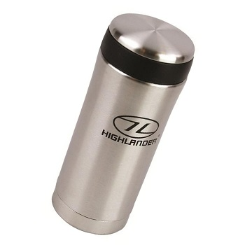 Highlander Sealed Thermal Mug Thermobecher - Silber