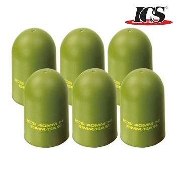 ICS Ersatz Gummi-Kappen für 40mm Granaten (6er Pack)