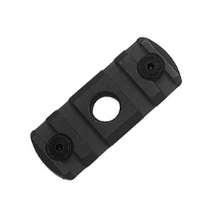 "IMI ® MLK ""M-LOK"" Rail Section (4 Slots) & QD Port - Black"