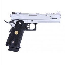 WE Hi-Capa 5.1 Dragon GBB, Silver - Type B