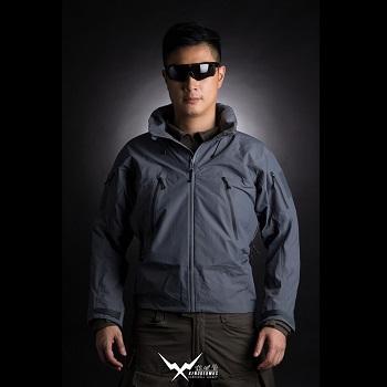 F.F.I. XENODERMUS Hardshell Jacke ( XEN Jacket ), Grey - Gr. XL