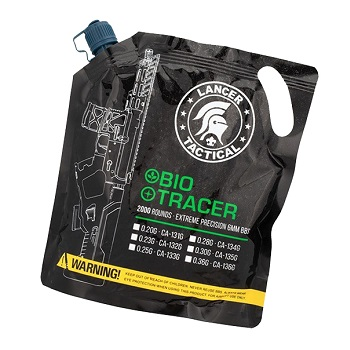 Lancer Tactical 0.20g Bio Tracer BBs - 2'000rnd