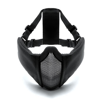 LayLax x Garuda Half Mesh Face Guard - Black