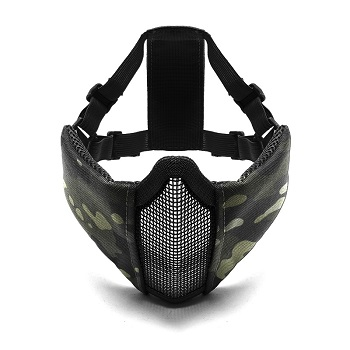 LayLax x Garuda Half Mesh Face Guard - MultiCam Black