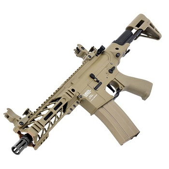 "Lancer Tactical M4 Enforcer ""M-LOK"" PDW QSC ProLine AEG - Desert"