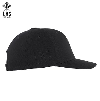 LMSGear ® Flexfit One Ten Snapback Hybrid Cap - Black
