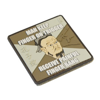 "La Patcheria ® ""Confucius: Finger Bang"" PVC Patch - ARID"
