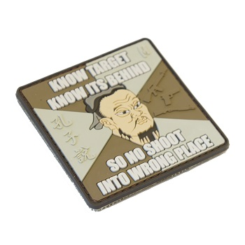 "La Patcheria ® ""Confucius: Know Target"" PVC Patch - ARID"