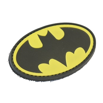 "La Patcheria ® ""Batman Logo"" PVC Patch - Color"