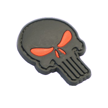 "La Patcheria ® ""Punisher Skull"" PVC Patch - Black"
