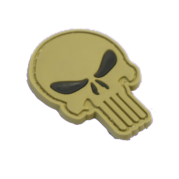 "La Patcheria ® ""Punisher Skull"" PVC Patch - Green"