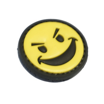 "La Patcheria ® ""Bad Smiley"" PVC Patch - Color"
