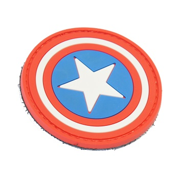 "La Patcheria ® ""Captain America"" PVC Patch - Color"