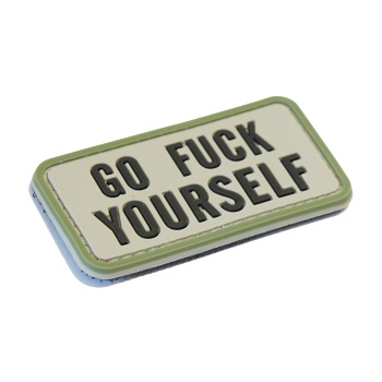 "La Patcheria ® ""Go Fuck Yourself"" PVC Patch - Foliage Green"