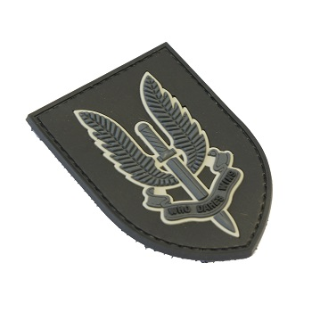 "La Patcheria ® ""SAS - Who dares wins"" PVC Patch - Black"