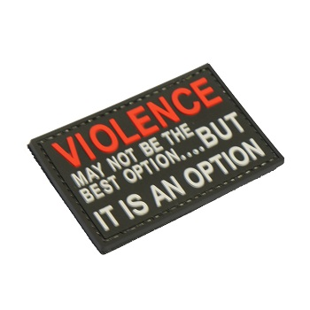 "La Patcheria ® ""Violence"" PVC Patch - Black"