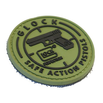 "La Patcheria ® ""Glock - Save Action Pistols"" PVC Patch - Olive"
