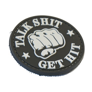 "La Patcheria ® ""Talk Shit - Get Hit"" PVC Patch - SWAT"