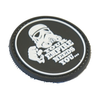 "La Patcheria ® ""Star Wars: Your Empire needs You..."" PVC Patch - Black"