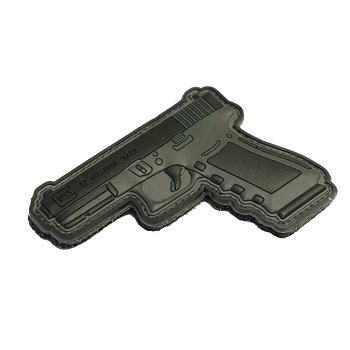 "La Patcheria ® ""Glock G17"" PVC Patch - Black / Grey"
