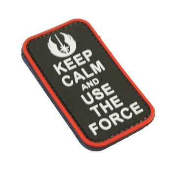 "La Patcheria ® ""Star Wars: Keep Calm and use the Force"" PVC Patch"