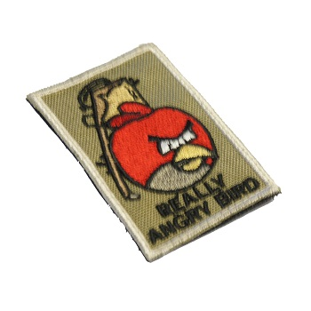 "La Patcheria ® ""Really Angry Bird"" Patch - Olive"